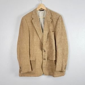 Vintage Orvis Union Made Tan Tweed Sport Coat 48L